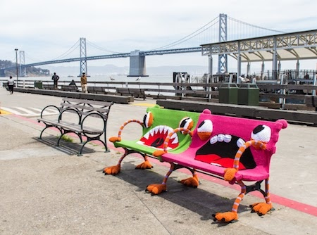 Yarn covered benches