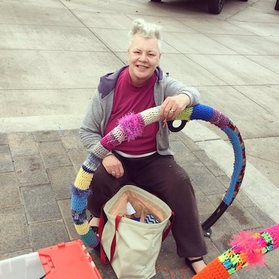 An Interview with Judy Kennedy: Yarn Bomber