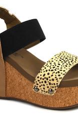 CORKYS Corky's Ethel Wedge - Cheetah - Black/Tan