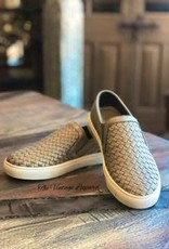 CORKYS Corky's Powder Brushed Gold Slip on Sneaker