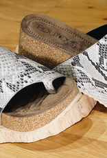 CORKYS Corky's Benton Black Snake Wedge Sandal