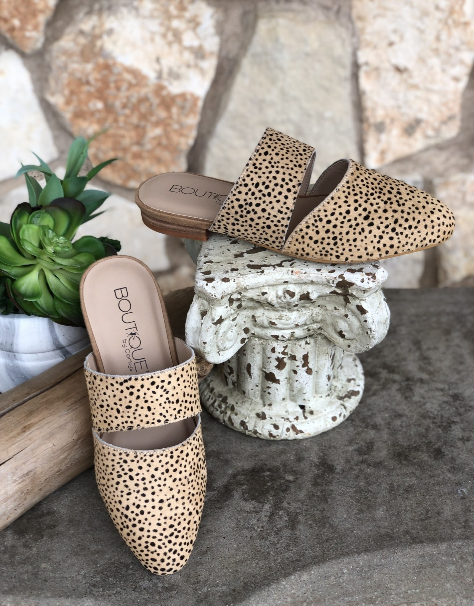 CORKYS Corky's Carina Banded Mule in Brown Speckled or Black