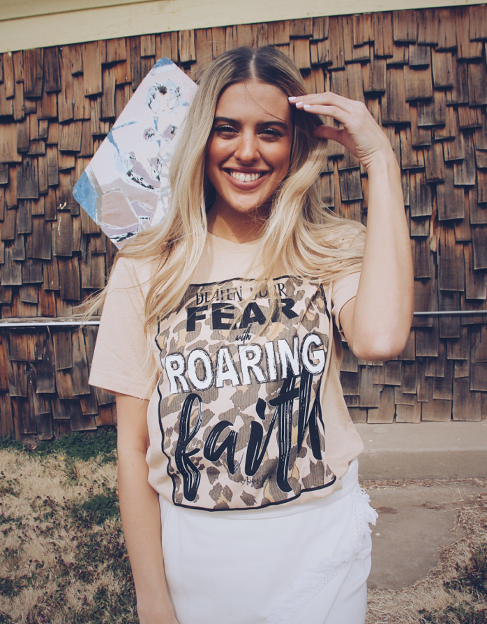 AUGUST BLEU ROARING FAITH TEE