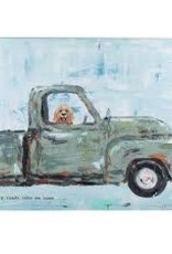 GLORY HAUS INC DOG IN GREEN TRUCK CANVAS