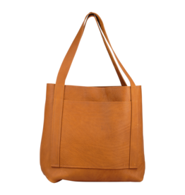 GLORY HAUS INC LEATHER TOTE BUTTERSCOTCH