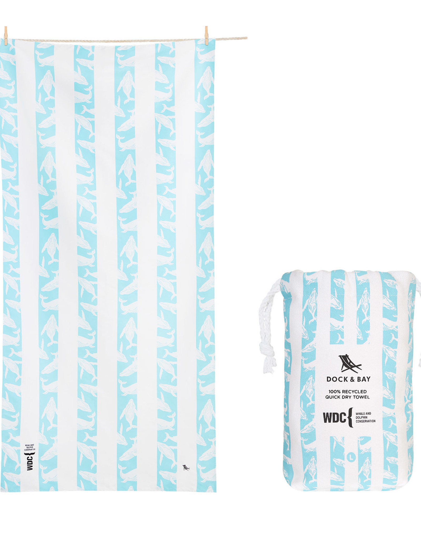 DOCK & BAY QUICK DRY PATTERNED STRIPED TOWEL
