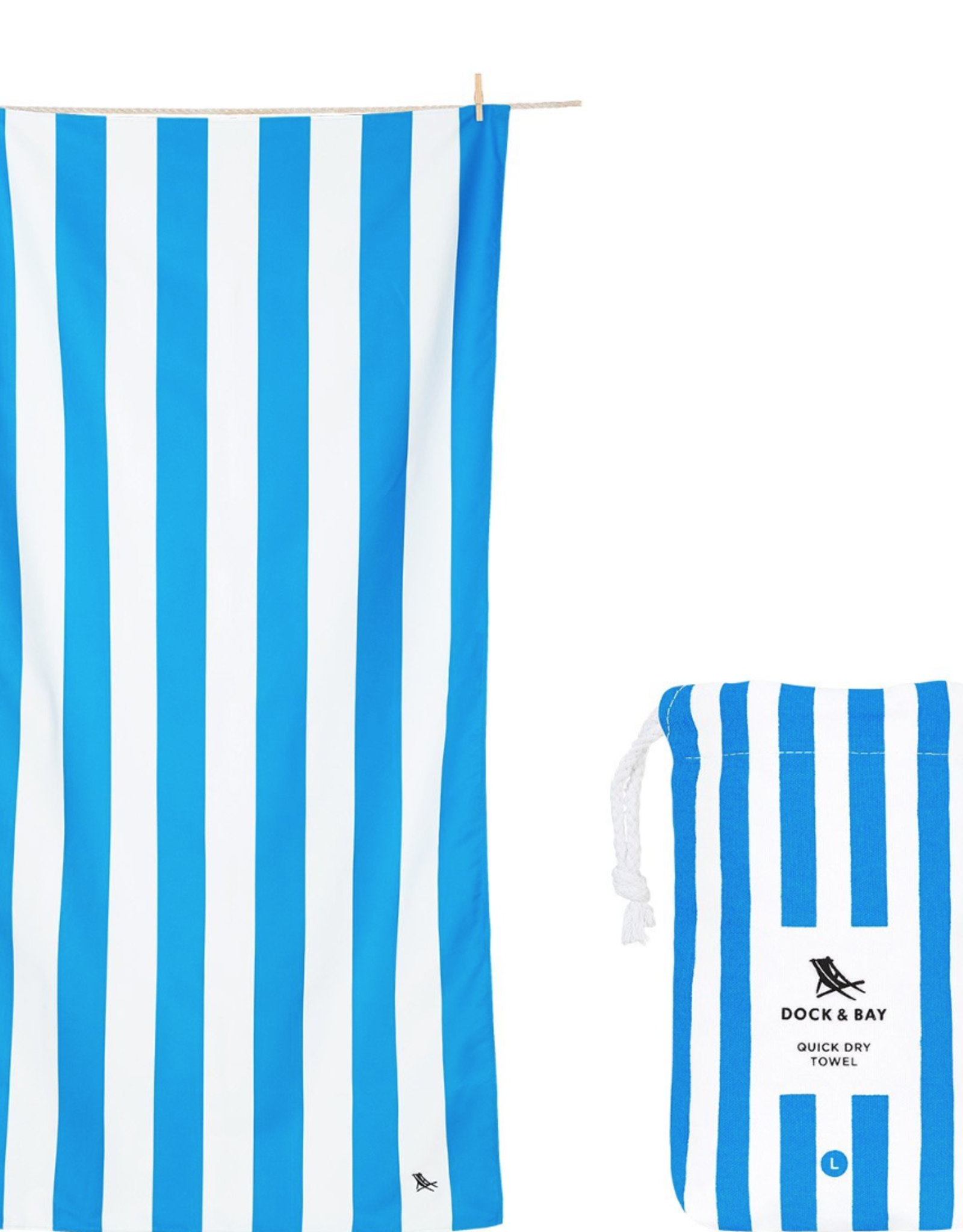 DOCK & BAY DOCK & BAY QUICK DRY STRIPED TOWELS