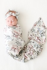 POSH PEANUT DANIELLA - INFANT SWADDLE AND HEADWRAP SET