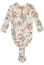 POSH PEANUT DANIELLA - WOOD BUTTON KNOTTED GOWN 0-3 MONTHS