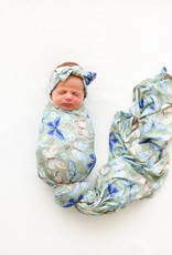 POSH PEANUT LUCY - INFANT SWADDLE AND HEADWRAP SET