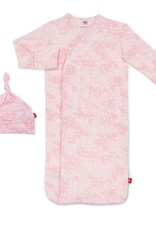MAGNETIC ME PINK DOESKIN GOWN & HAT NB-3M