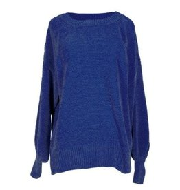 SIMPLY SOUTHERN SWEATER CHENILLE BISHOP BLUE