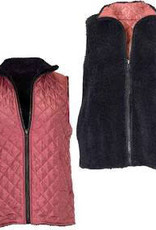 SIMPLY SOUTHERN MAROON REVERSIBLE VEST