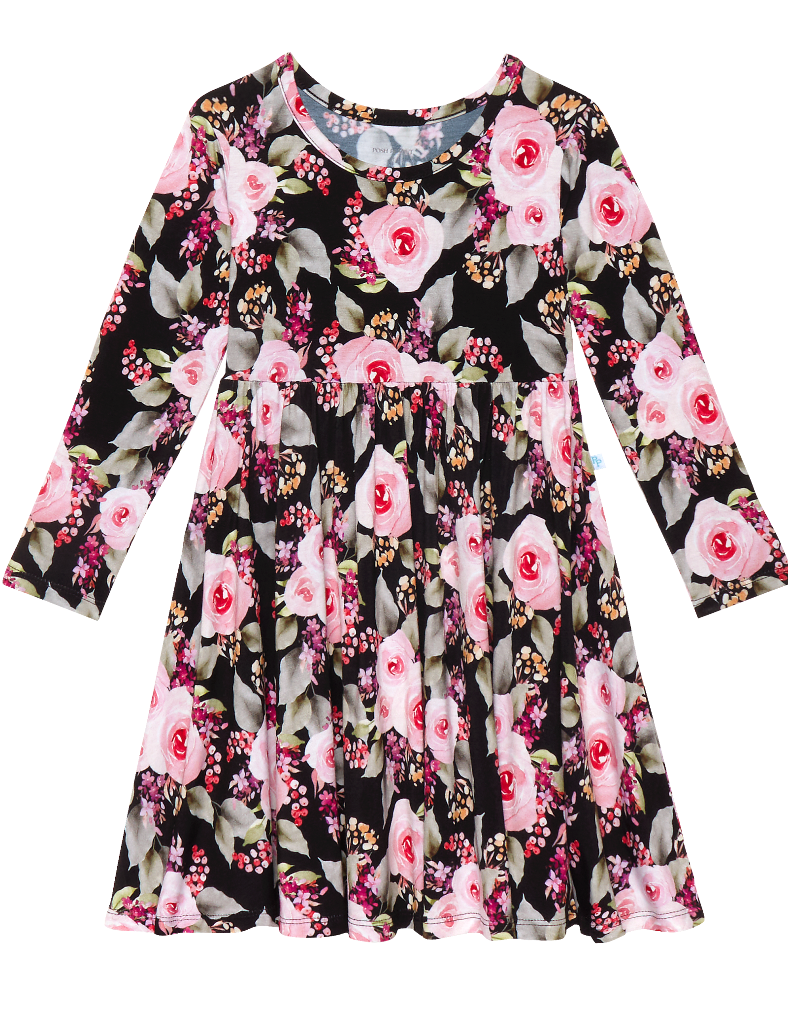 POSH PEANUT MILANA LONG SLEEVE TWIRL DRESS