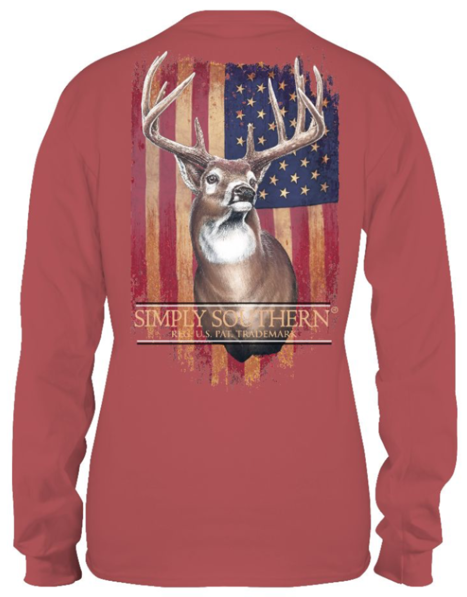 SIMPLY SOUTHERN GUYS DEER TSHIRT- SPICE