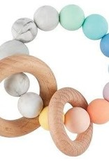 MUD PIE SILICONE/WOOD TEETHER