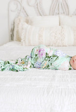 POSH PEANUT ERIN - INFANT SWADDLE AND HEADWRAP SET