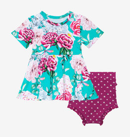 POSH PEANUT ELOISE- SHORT SLEEVE PEPLUM  & BLOOMER SET