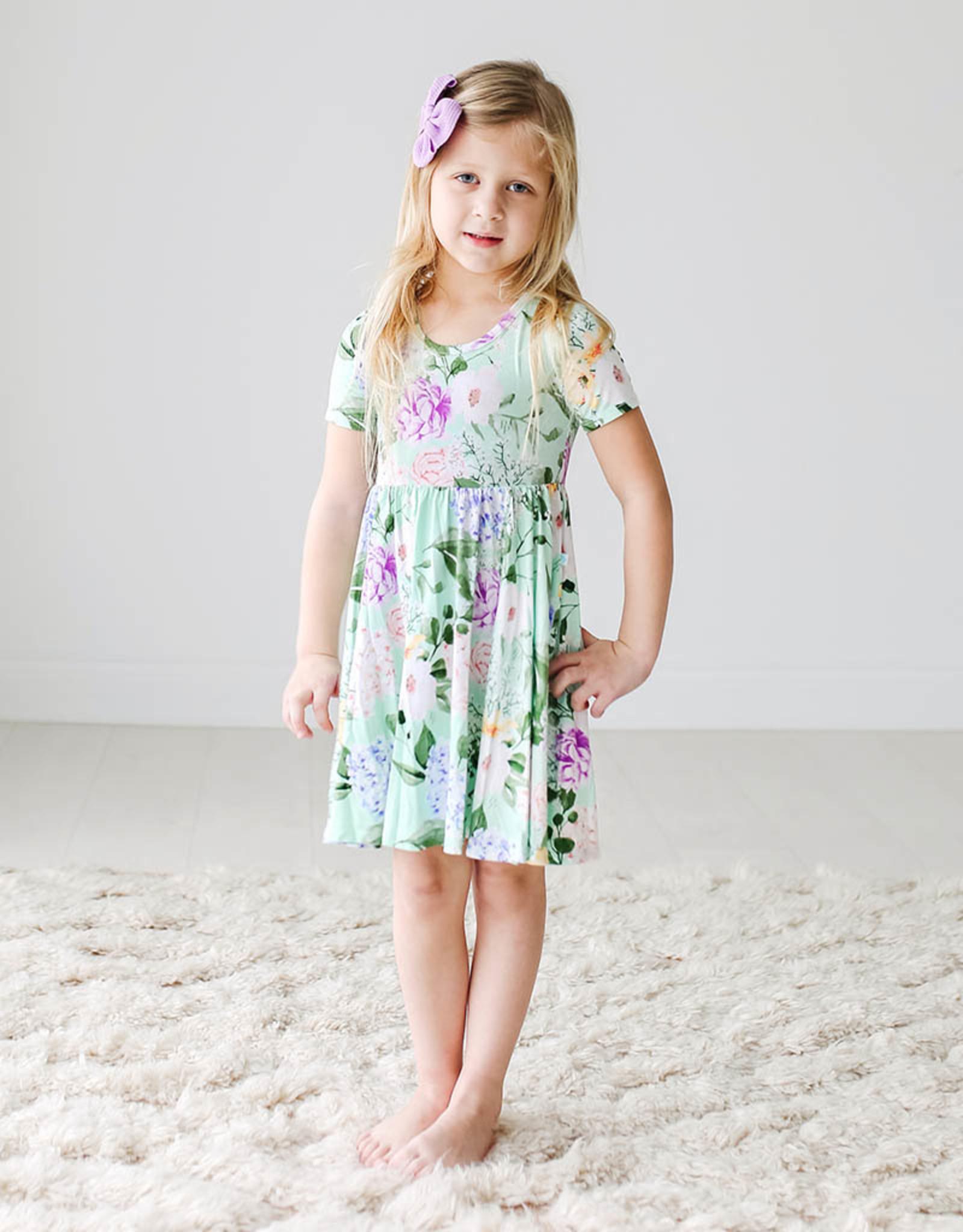 POSH PEANUT ERIN- SHORT SLVE BASIC TWIRL DRESS