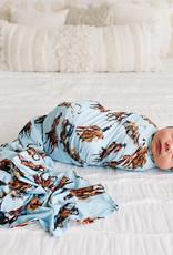 POSH PEANUT BRODY - INFANT SWADDLE AND BEANIE SET