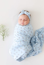 POSH PEANUT Grace - Infant Swaddle and Headwrap Set