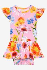 POSH PEANUT Kaileigh - Ruffled Capsleeve Basic Twirl Skirt Bodysuit
