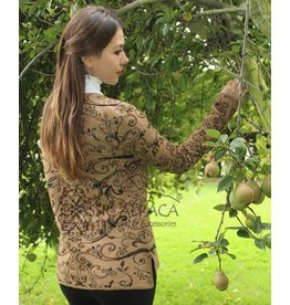 Classic Alpaca Full Embroidered Ladies Alpaca Cardigan