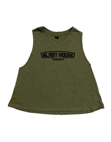 ICON CROP TANK - OLIVE