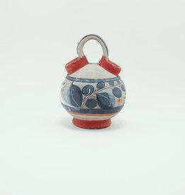 Burnished Tonala Pottery Small Watering Jug with Bird Motif