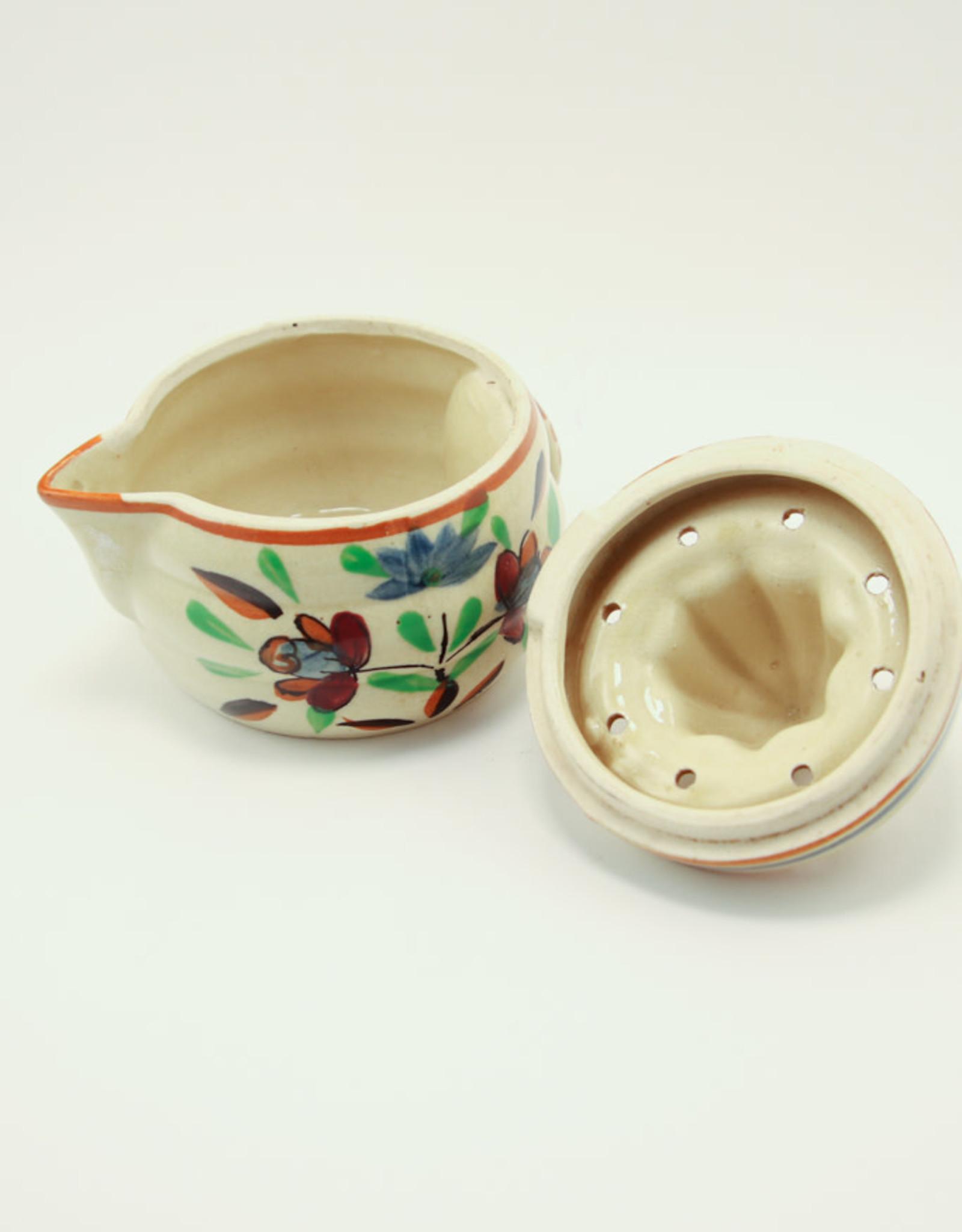 Vintage Japanese Majolica/Reamer & Pitcher