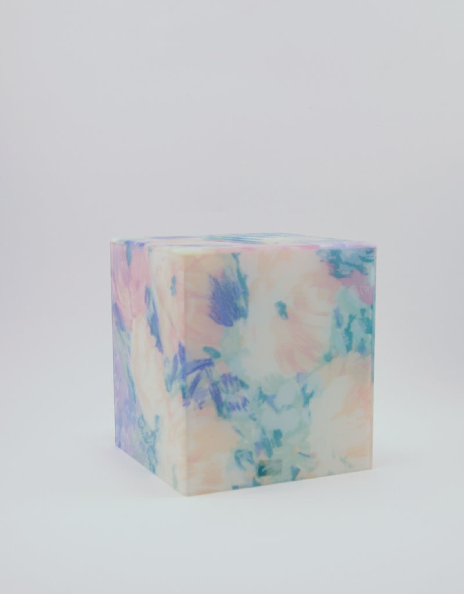 80's Floral Spring Resin Tissue Box Cover