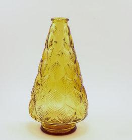 Wheaton Amber Leaf Vase