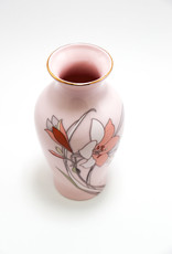 Yamaji Hand Painted Japanese Lilies Porcelain Vase
