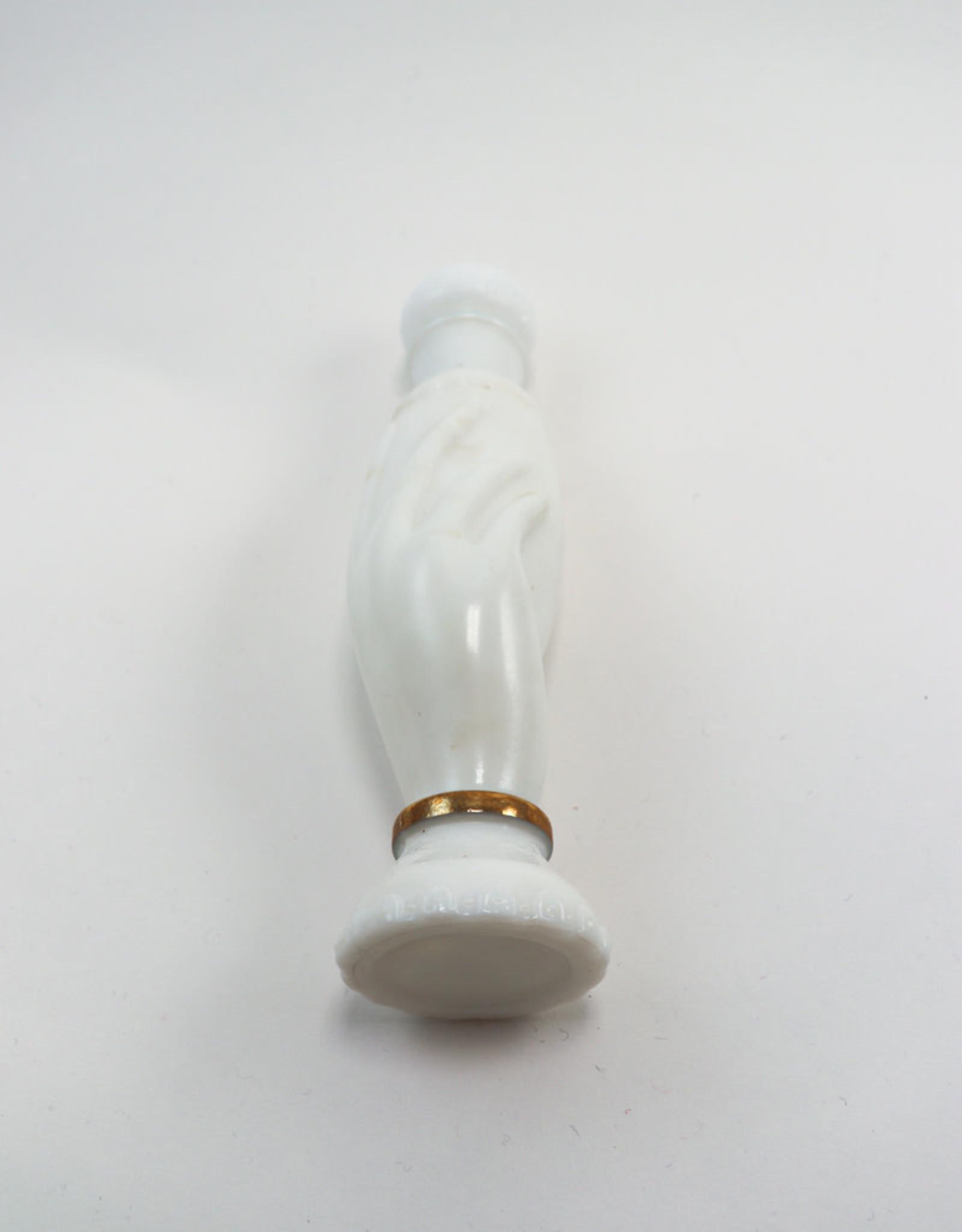 Avon Vintage Avon Perfume Hand Milk Glass Bottle