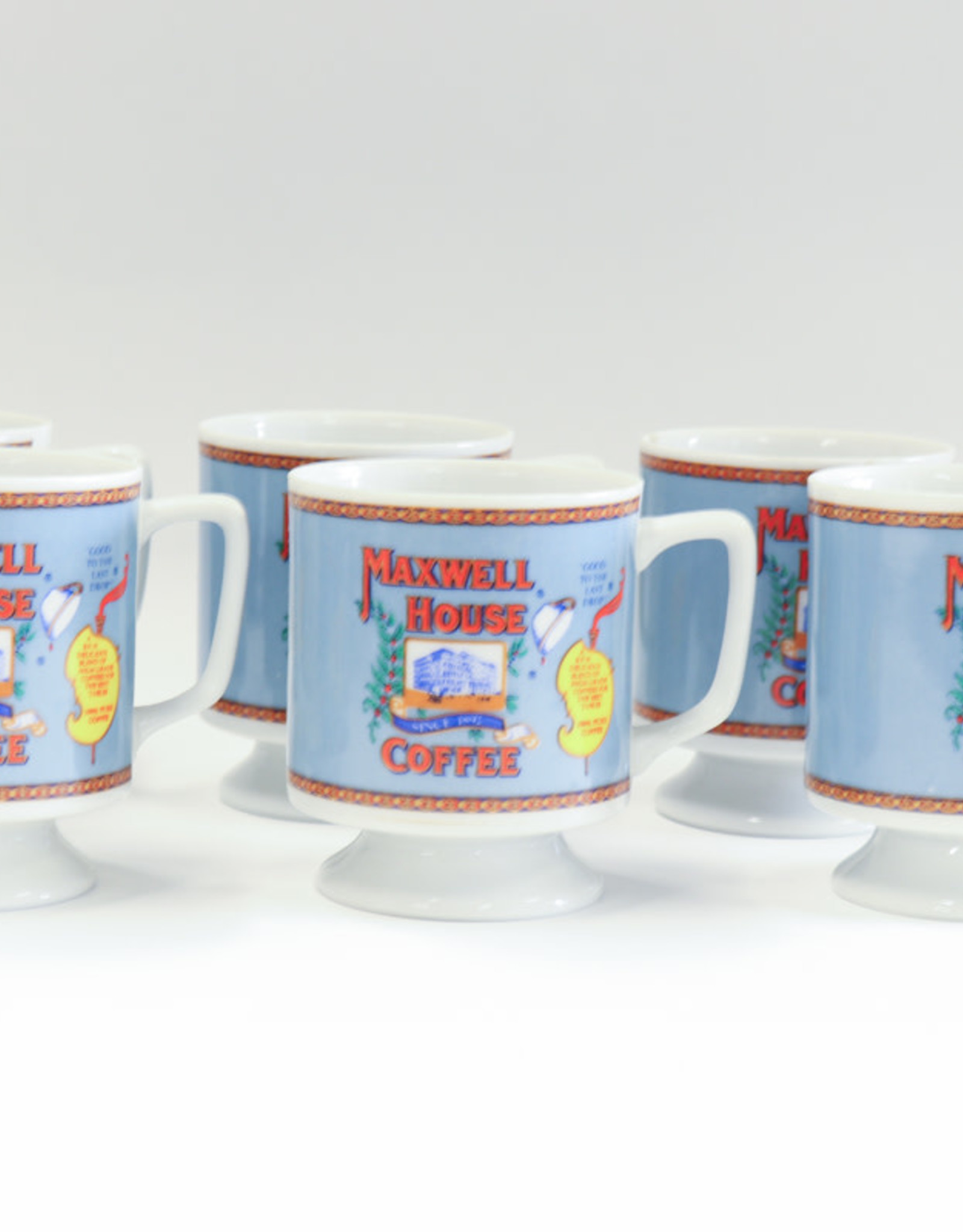 Vintage Maxwell House Cups/Set of 6