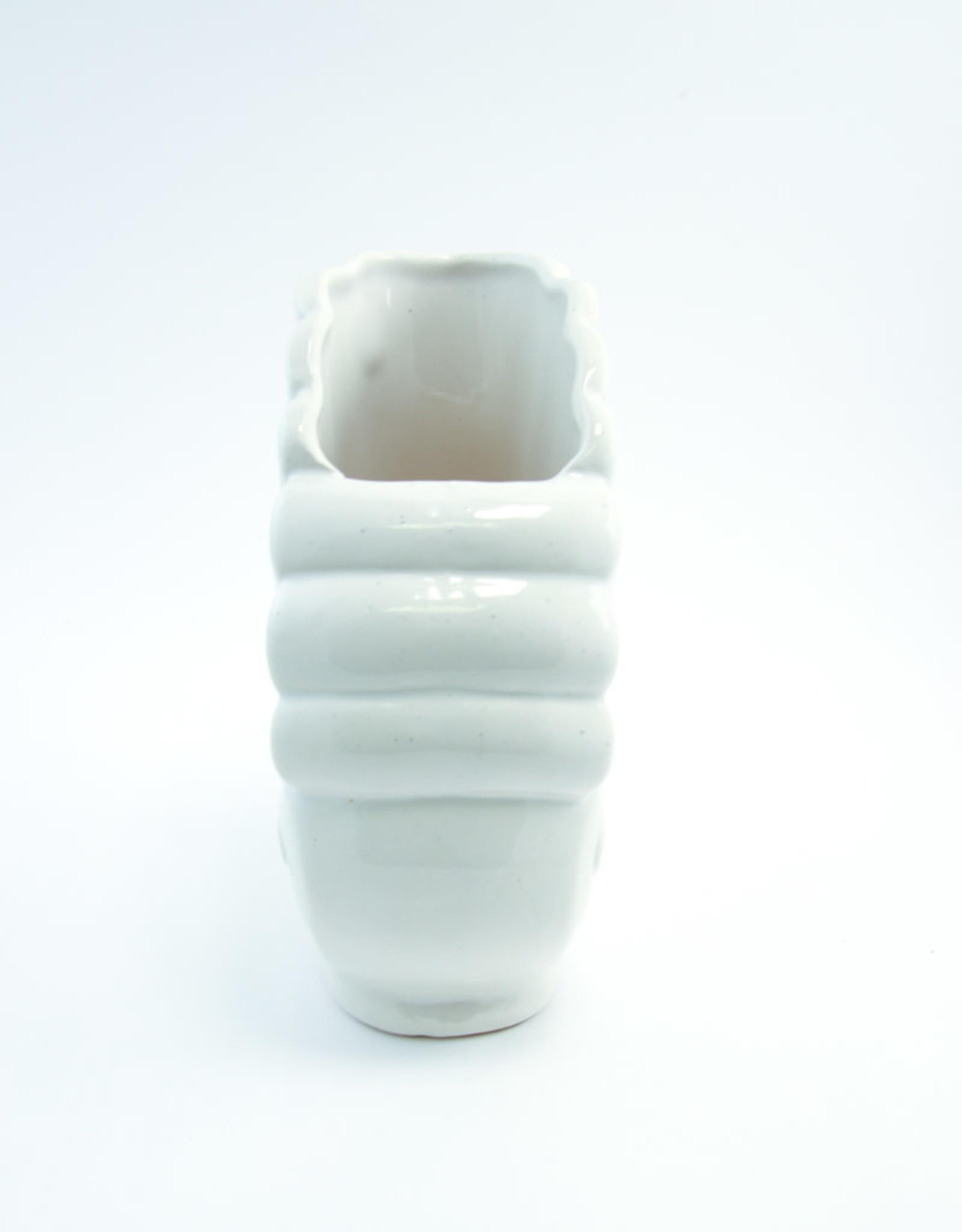 Vintage Seashell Vase (Cream)