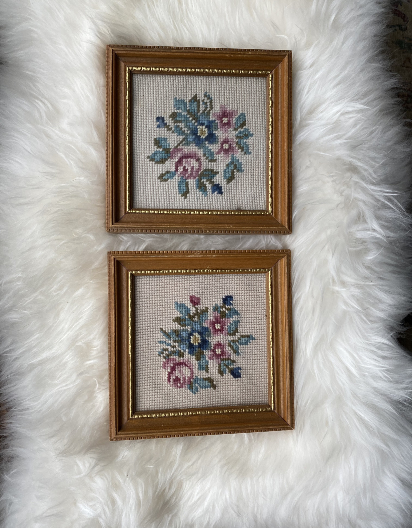 Floral Needlepoint Picture (ea)