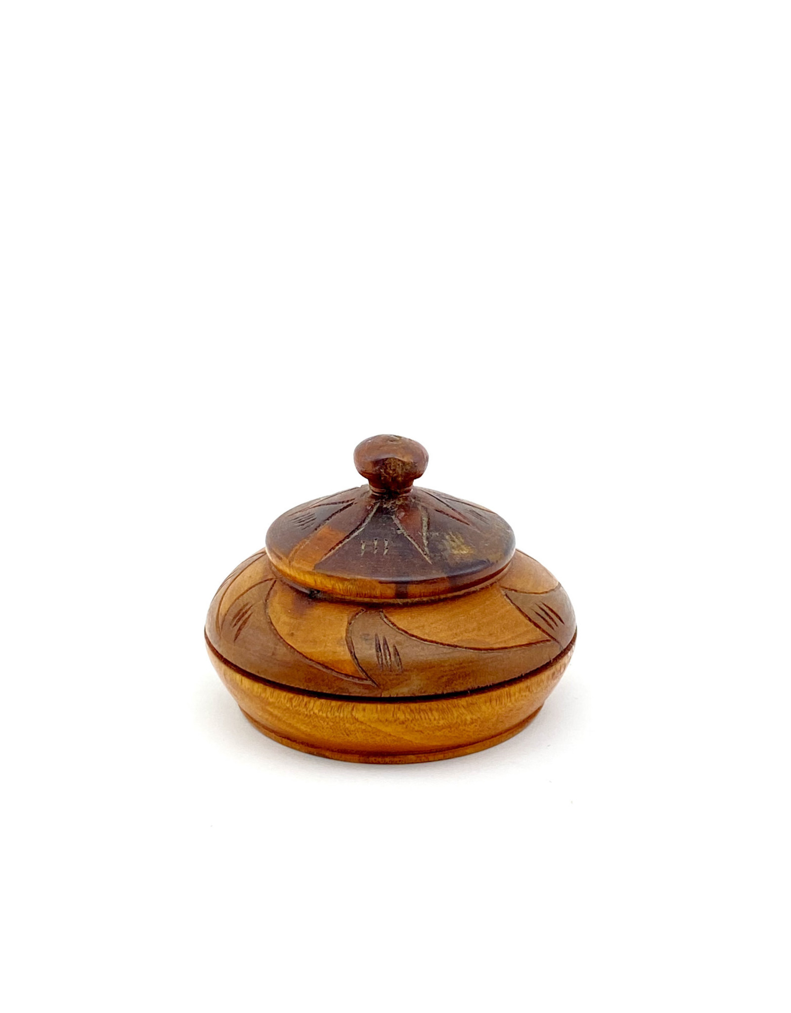 Wooden Etched Trinket Box