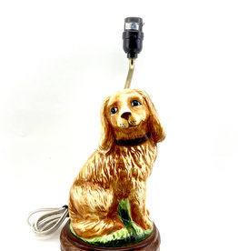 Vtg Ceramic Cockerspaniel Dog Lamp