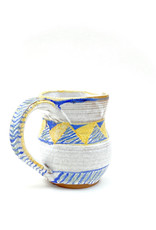 Terracotta Pitcher (Blue and Yellow)