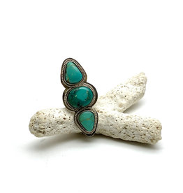 Tri-Stone Turquoise Statement Ring