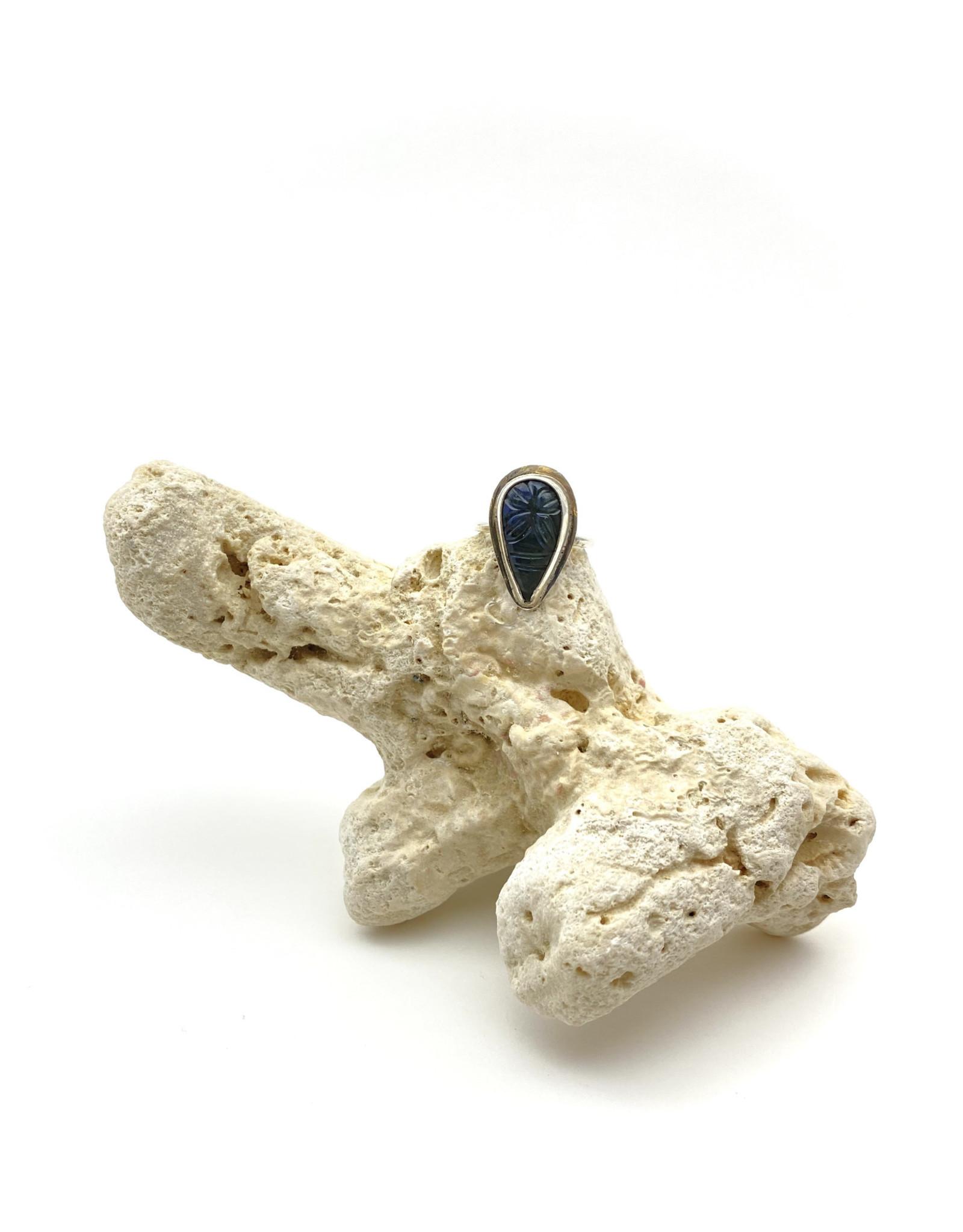 Carved Labradorite Pear
