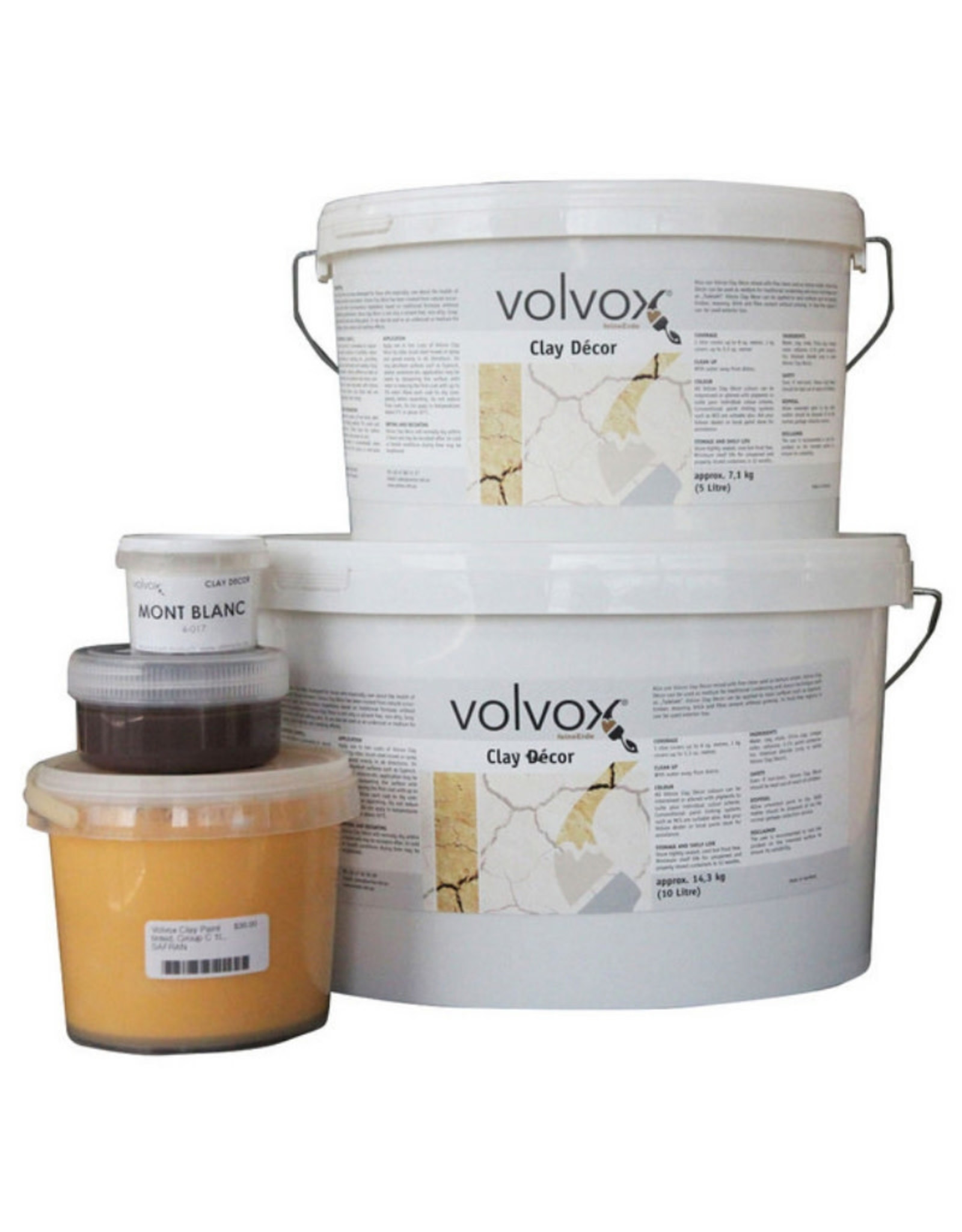 VOLVOX Clay Paint INDIAN REDS & BROWNS
