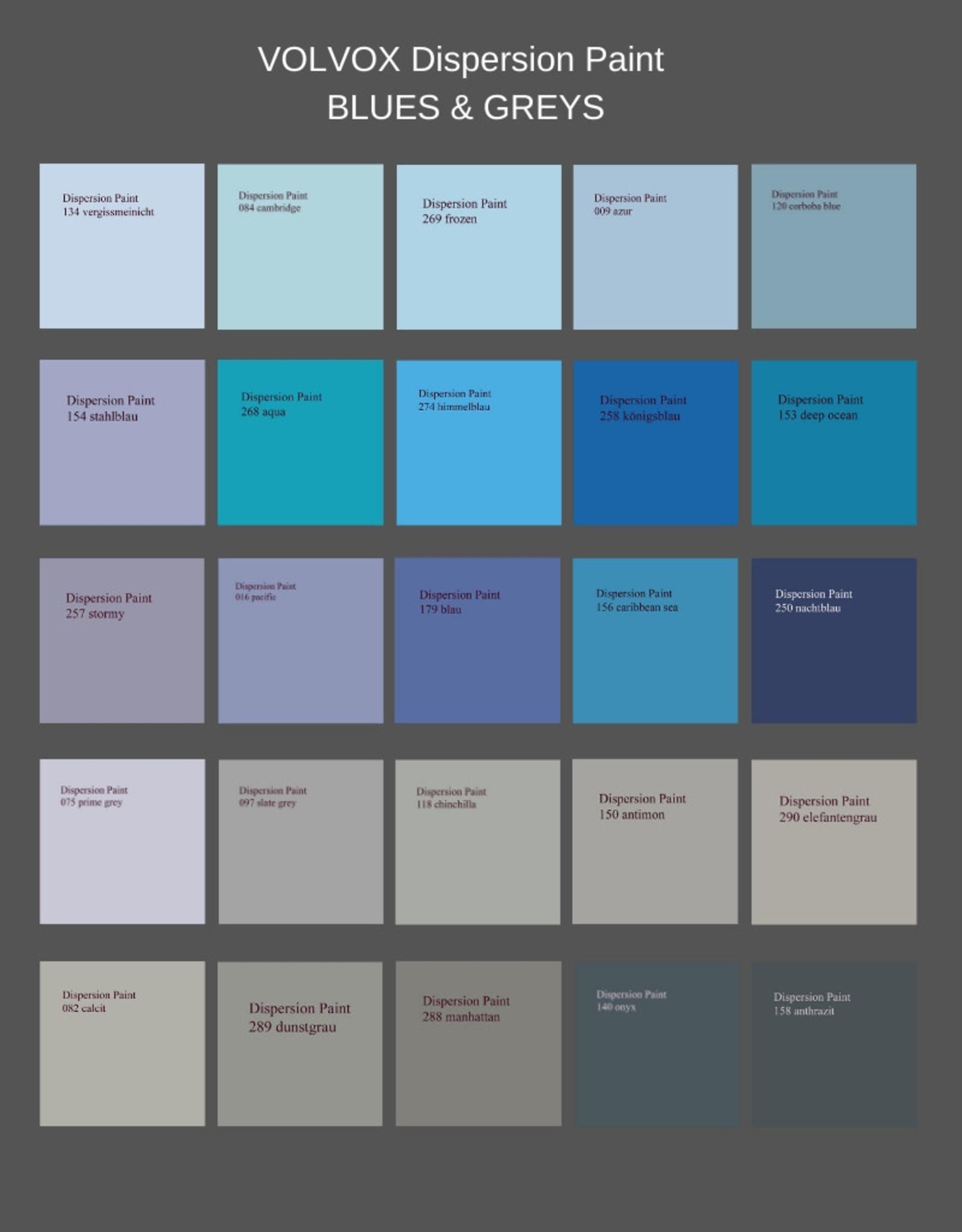VOLVOX Dispersion Paint BLUES & GREYS