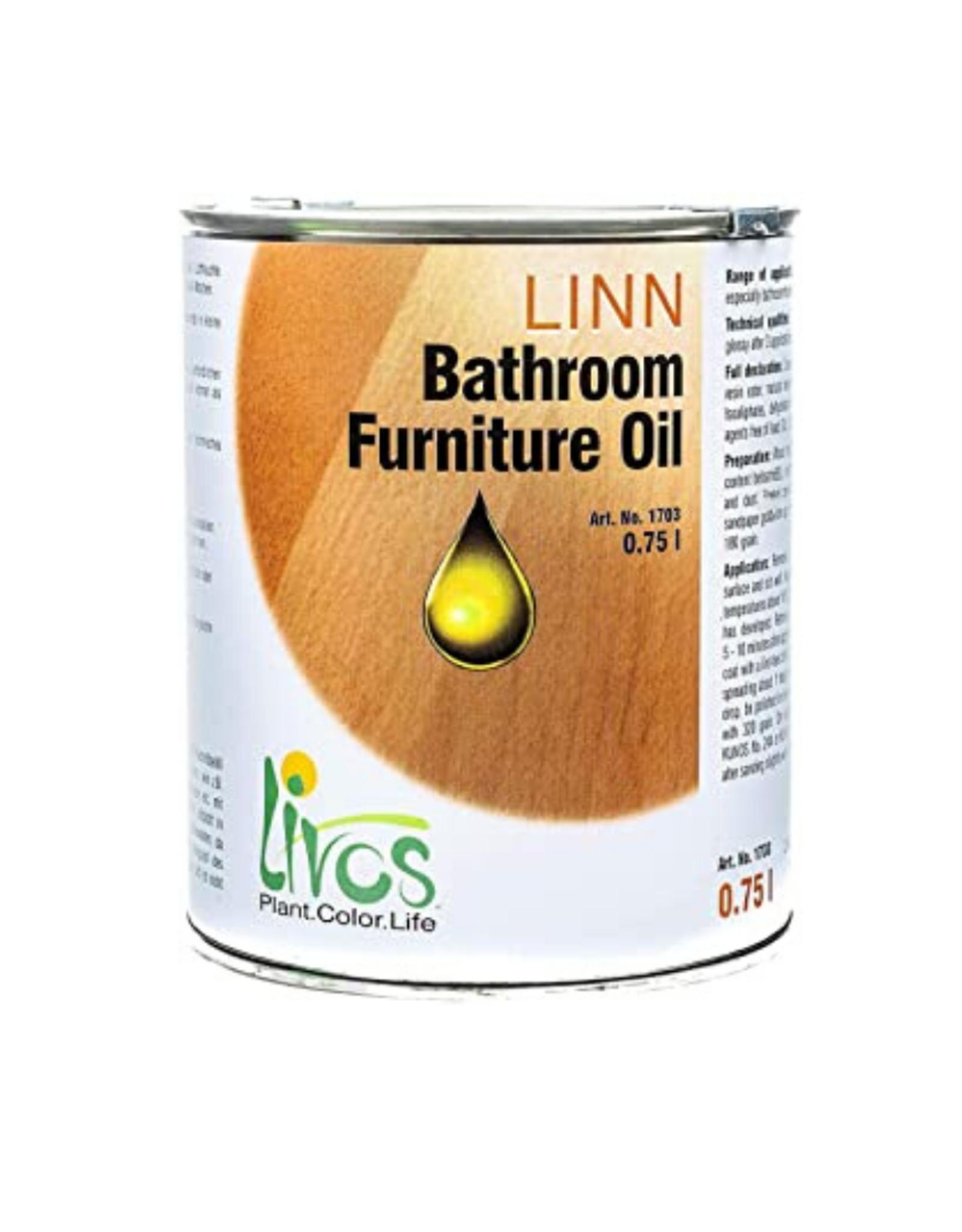 LIVOS Linn Bathroom Furniture Oil