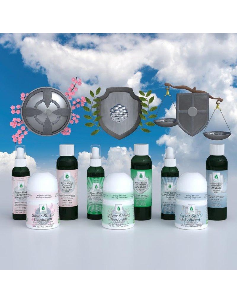 Silver Botanicals Silver Shield Deodorant, Sensitive, Spray On 2oz