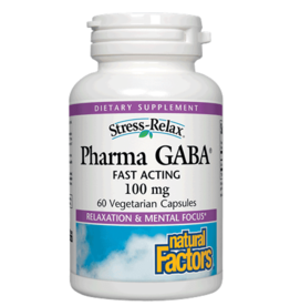 Natural Factors Stress-Relax Pharma GABA 60/CAP