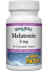 Natural Factors Stress-Relax Melatonin 3 mg Chewable 90/TAB