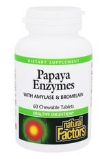 Natural Factors Papaya Enzyme Chewable 60/TAB