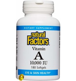 Natural Factors Vit A 10,000 IU 180/SG